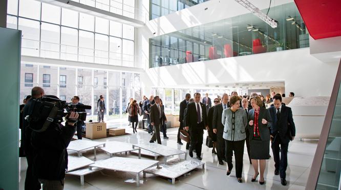 Brazilian president visits MIT